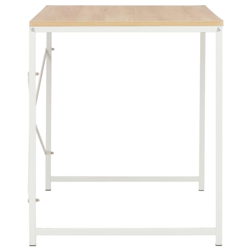 PC stůl bílý a dubový odstín 120 x 60 x 70 cm