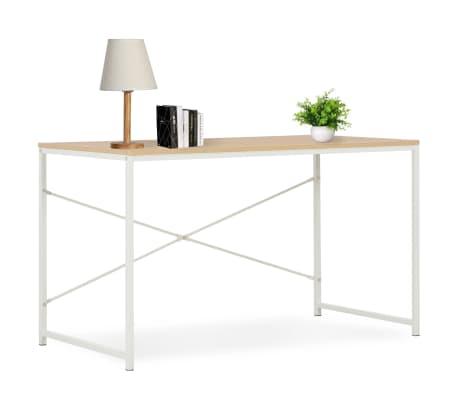 "vidaXL Computer Desk White and Oak 47.2""x23.6""x27.6""[1/7]"