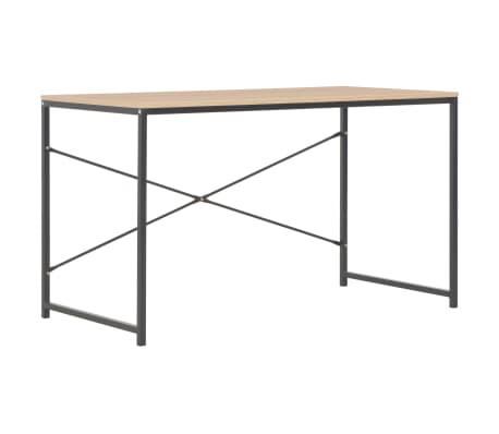 """vidaXL Computer Desk Black and Oak 47.2""""x23.6""""x27.6""""[2/8]"""