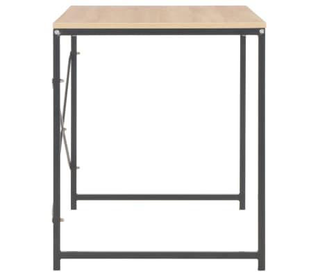 """vidaXL Computer Desk Black and Oak 47.2""""x23.6""""x27.6""""[5/8]"""