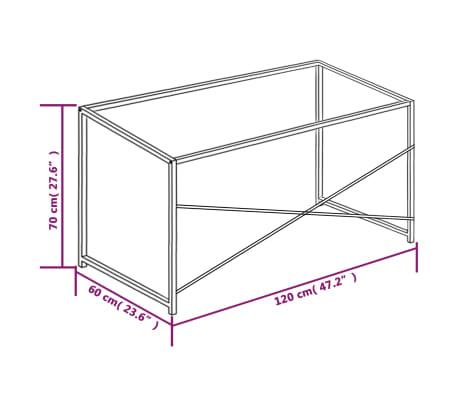 """vidaXL Computer Desk Black and Oak 47.2""""x23.6""""x27.6""""[8/8]"""
