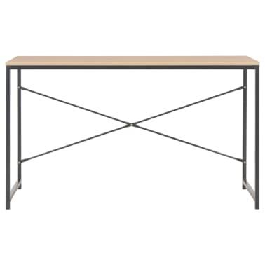 """vidaXL Computer Desk Black and Oak 47.2""""x23.6""""x27.6""""[3/8]"""