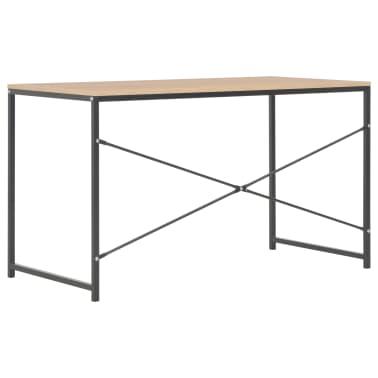 """vidaXL Computer Desk Black and Oak 47.2""""x23.6""""x27.6""""[4/8]"""