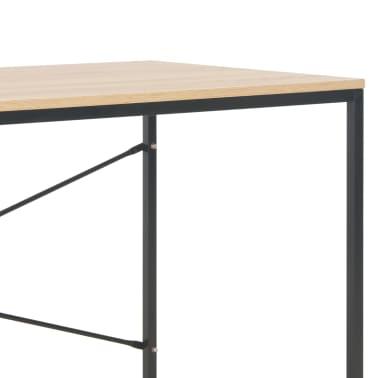 """vidaXL Computer Desk Black and Oak 47.2""""x23.6""""x27.6""""[6/8]"""