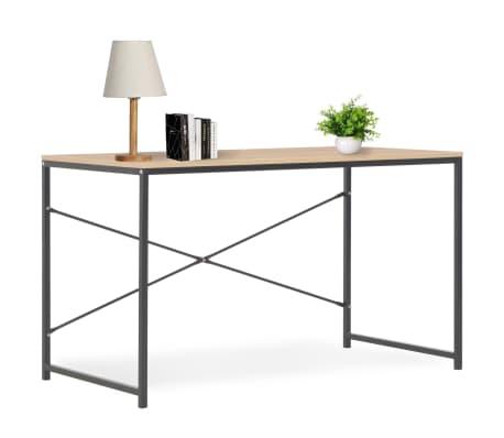 """vidaXL Computer Desk Black and Oak 47.2""""x23.6""""x27.6""""[1/8]"""