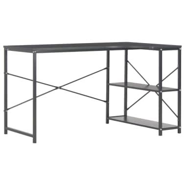 "vidaXL Computer Desk Black 47.2""x28.3x27.6""[2/8]"