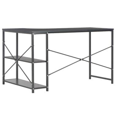 "vidaXL Computer Desk Black 47.2""x28.3x27.6""[4/8]"