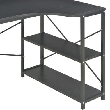 "vidaXL Computer Desk Black 47.2""x28.3x27.6""[6/8]"