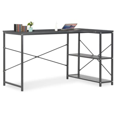 "vidaXL Computer Desk Black 47.2""x28.3x27.6""[1/8]"