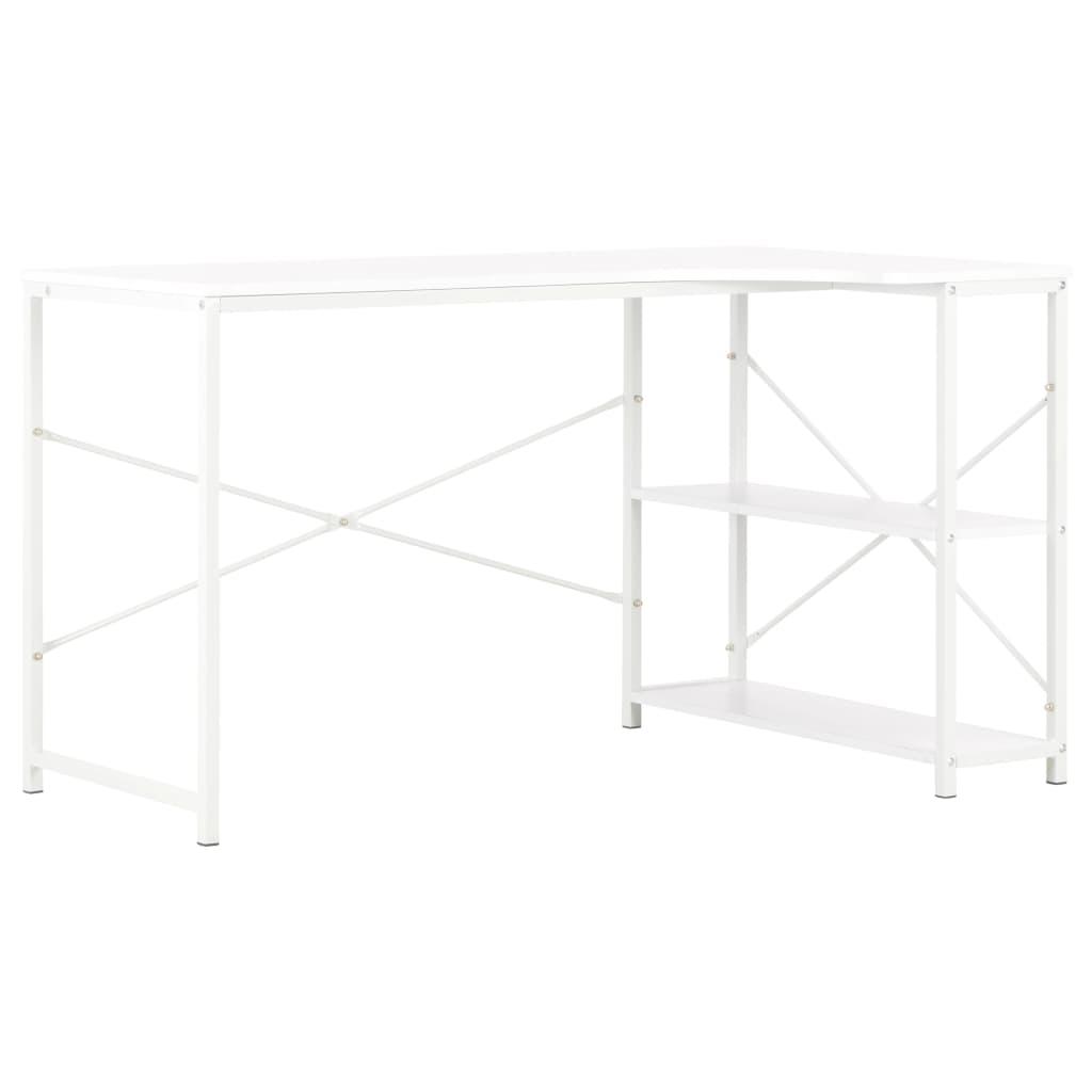 PC stůl bílý 120 x 72 x 70 cm