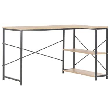 """vidaXL Computer Desk Black and Oak 47.2""""x28.3""""x27.6""""[2/8]"""