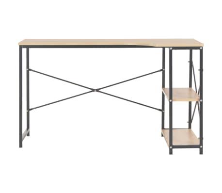 """vidaXL Computer Desk Black and Oak 47.2""""x28.3""""x27.6""""[3/8]"""