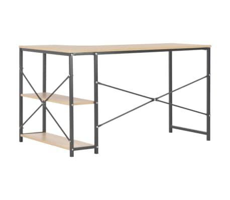 """vidaXL Computer Desk Black and Oak 47.2""""x28.3""""x27.6""""[4/8]"""