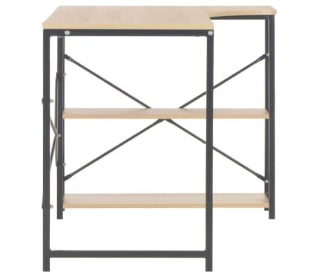"""vidaXL Computer Desk Black and Oak 47.2""""x28.3""""x27.6""""[5/8]"""