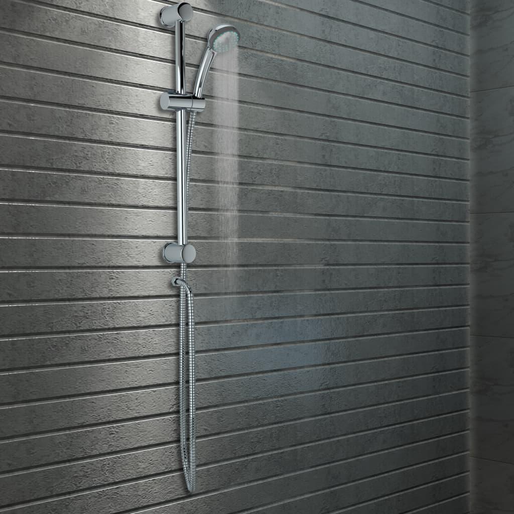 vidaXL Sprchová sada se sprchovou tyčí a ruční sprchou kov