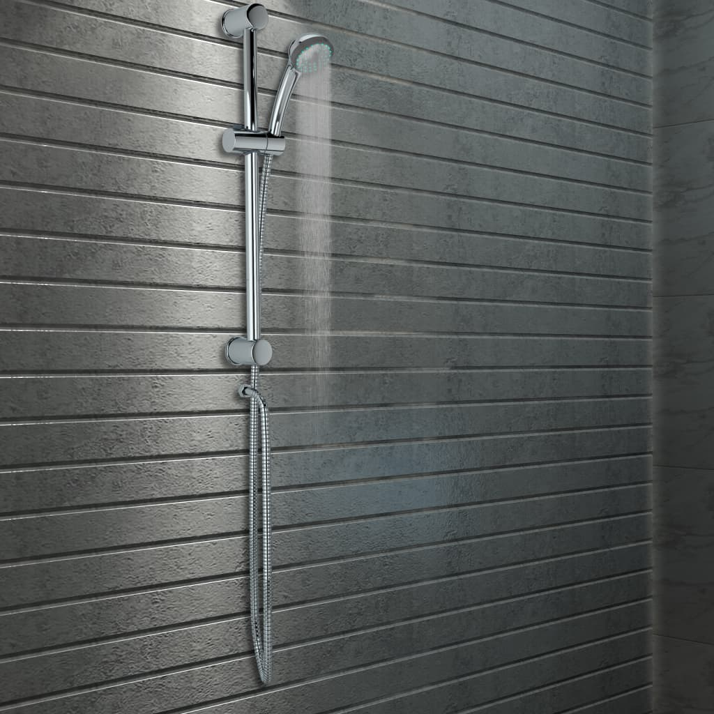Sprchová sada se sprchovou tyčí a ruční sprchou kov