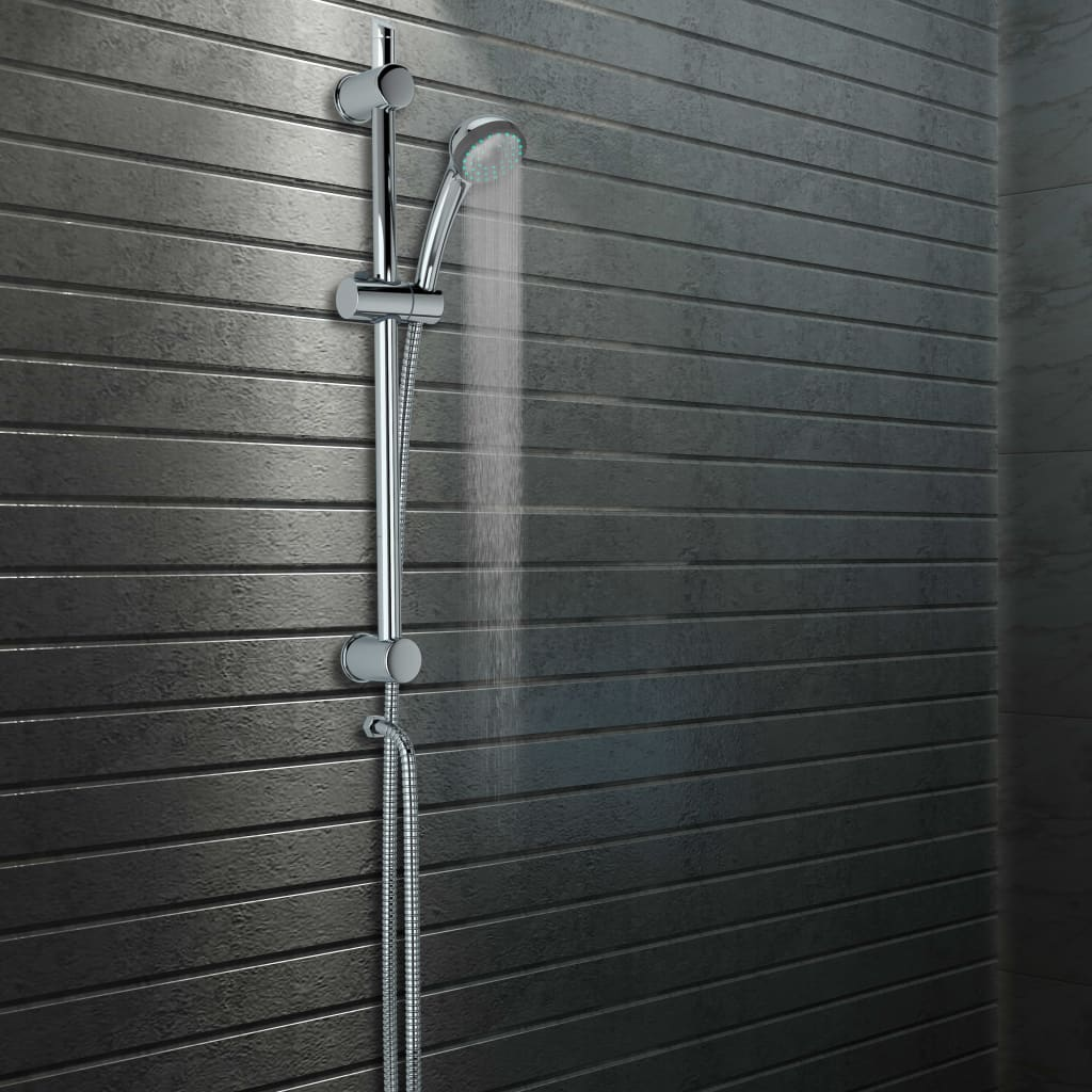 vidaXL Bară de duș cu suport pentru duș manual, 76 cm poza vidaxl.ro