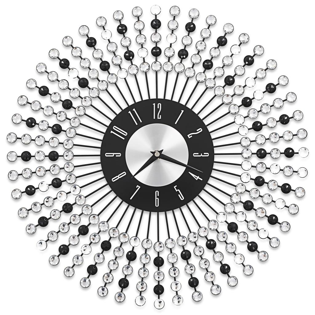 vidaXL Ρολόι Τοίχου Μαύρο 43 εκ. Μεταλλικό