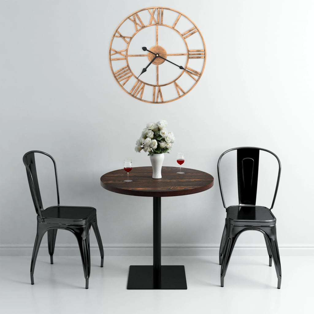 vidaXL Ceas de perete, auriu, 40 cm, metal poza 2021 vidaXL