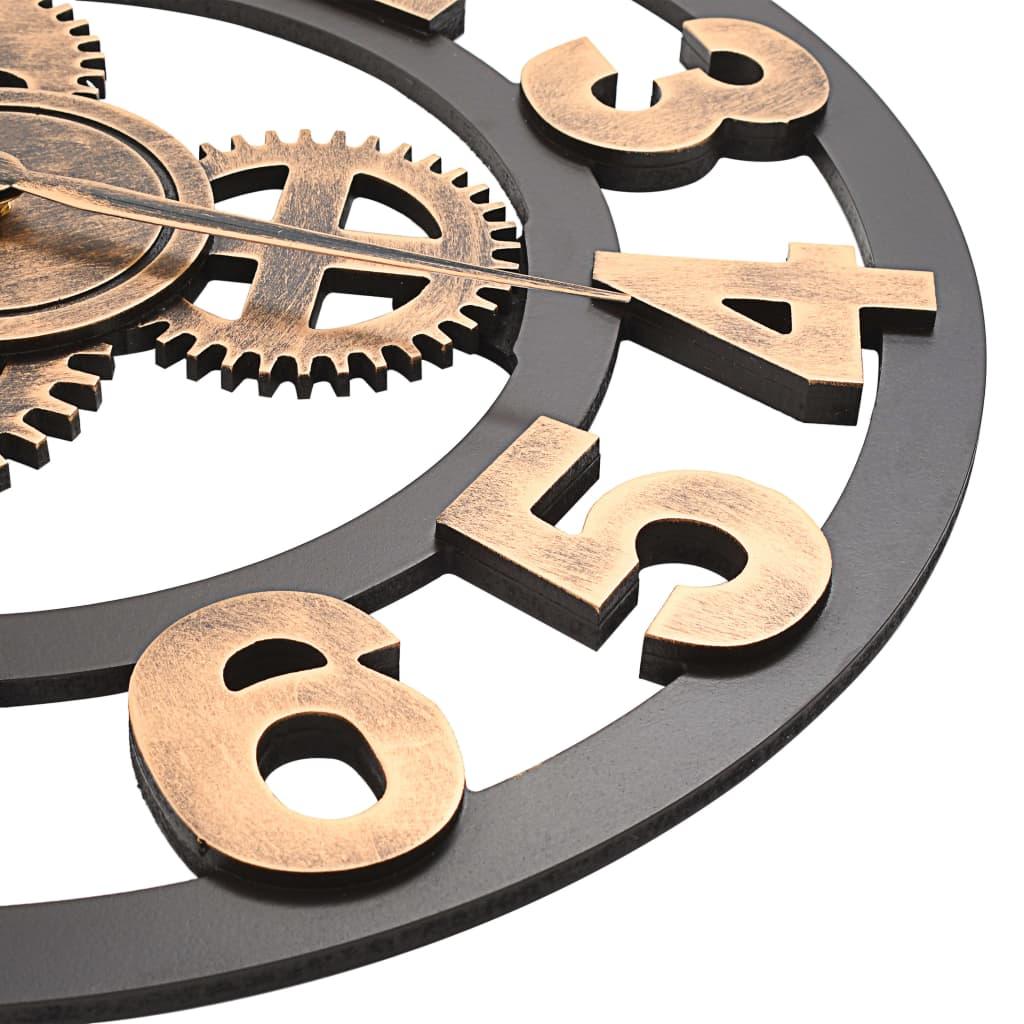 vidaXL-Horloge-Murale-Metal-58-cm-Dore-et-Noir-Salon-Salle-de-Sejour-Chambre miniature 4