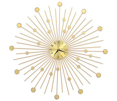 vidaXL Wall Clock Metal 70 cm Golden