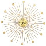 vidaXL Wandklok 70 cm metaal goudkleurig