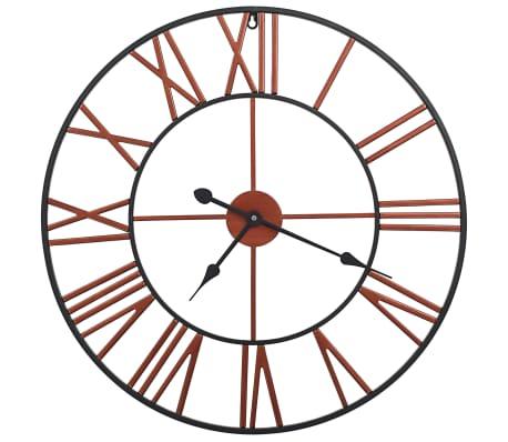 vidaXL Wall Clock Metal 58 cm Red