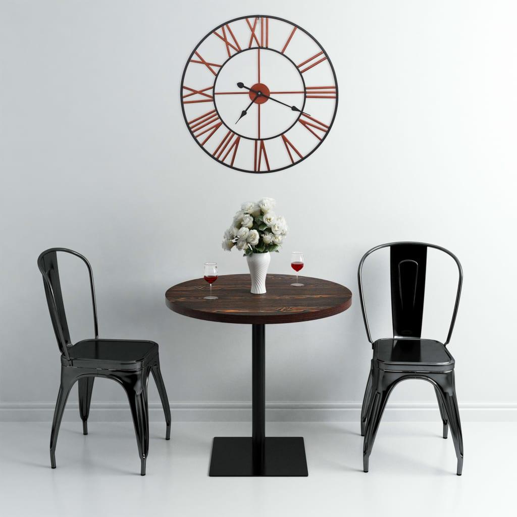 vidaXL Ceas de perete, roșu, 58 cm, metal poza 2021 vidaXL