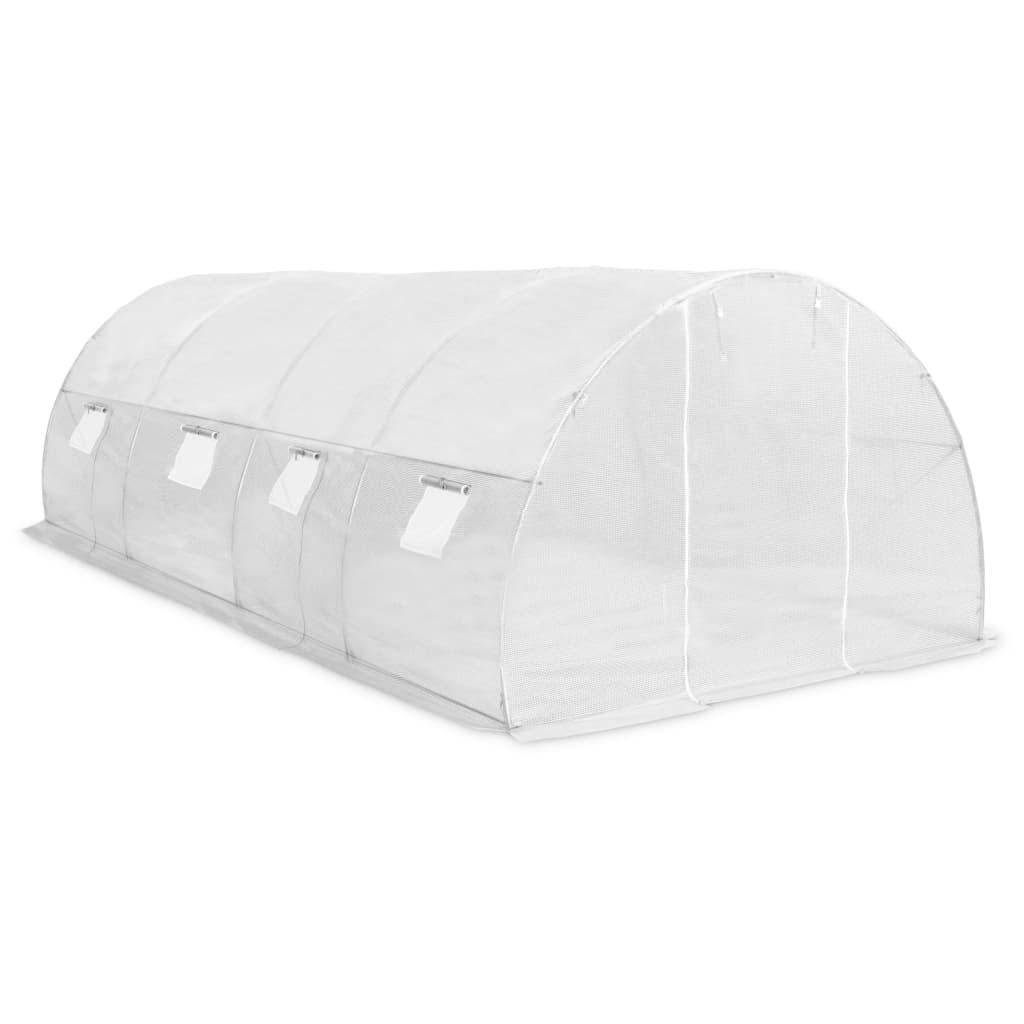 Kasvuhoone terasest vundamendiga, 18 m², 600 x 300 x 200 cm