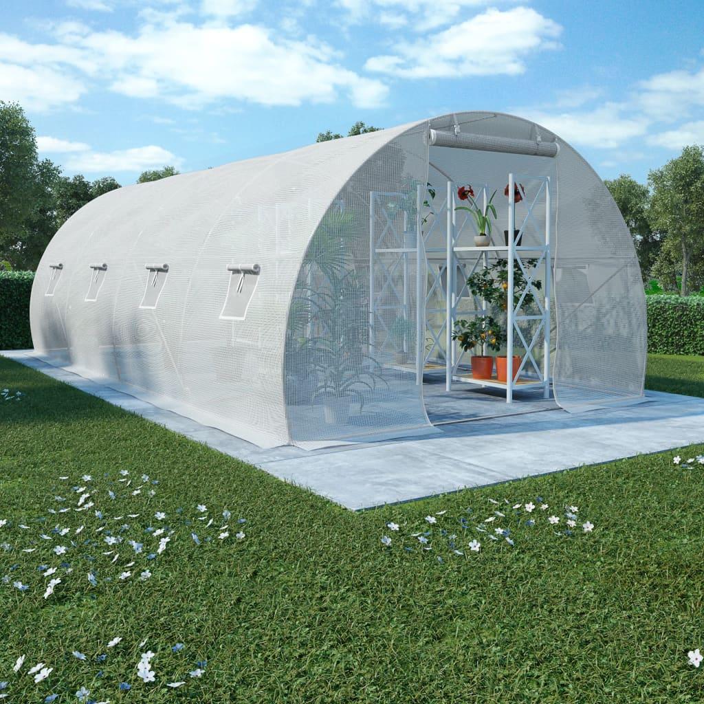 Kasvuhoone terasest vundamendiga, 18 m², 600 x 3..