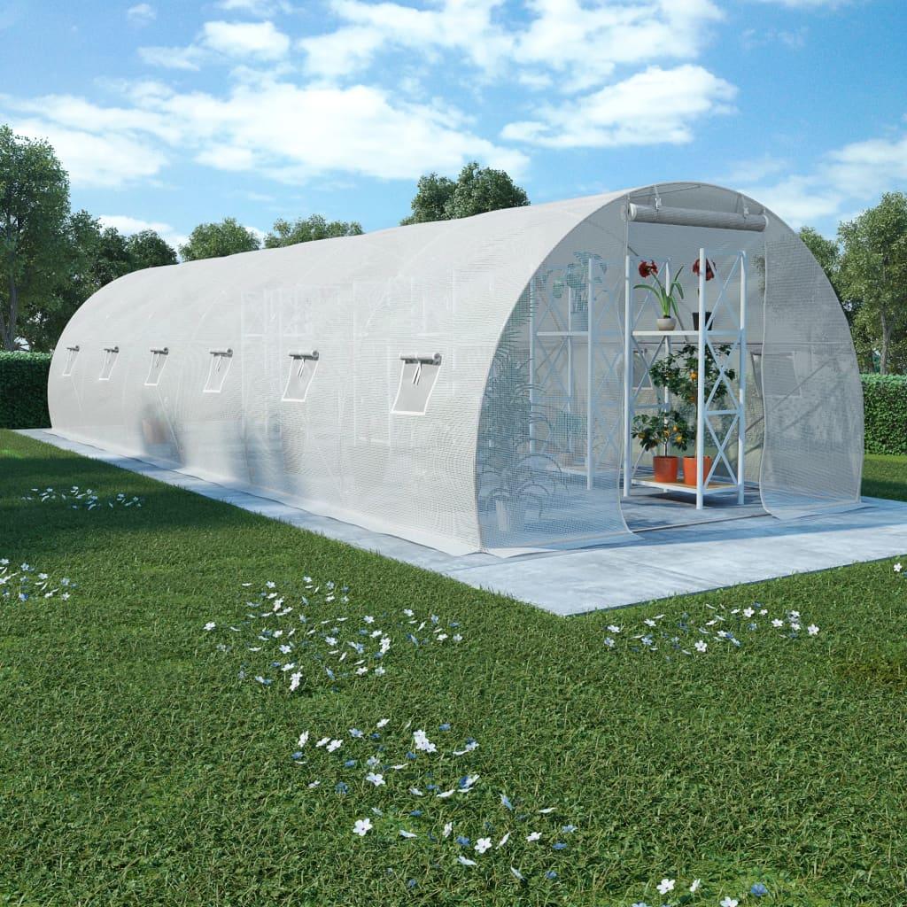 vidaXL Kas met stalen fundering 27 m² 900x300x200 cm