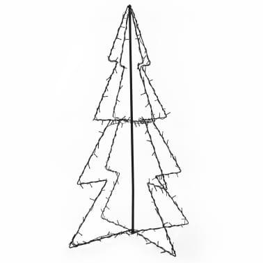 vidaXL Ozdoba świąteczna w kształcie choinki, 160 LED, 78x120 cm[2/4]