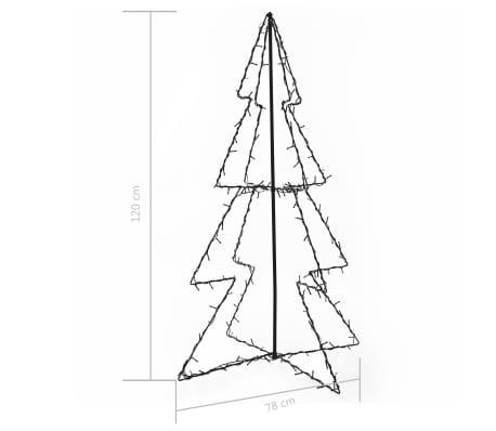 vidaXL Ozdoba świąteczna w kształcie choinki, 160 LED, 78x120 cm[4/4]
