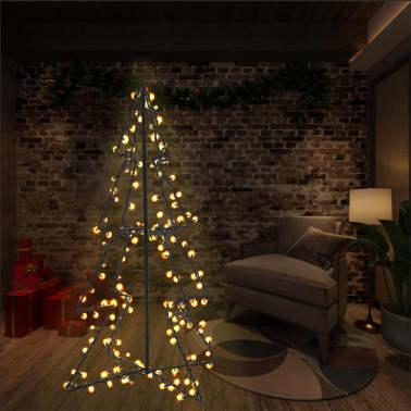 vidaXL Ozdoba świąteczna w kształcie choinki, 160 LED, 78x120 cm[1/4]