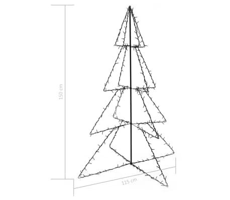 vidaXL Novoletna jelka stožec 240 LED lučk notranje/zunanja 115x150 cm[4/4]
