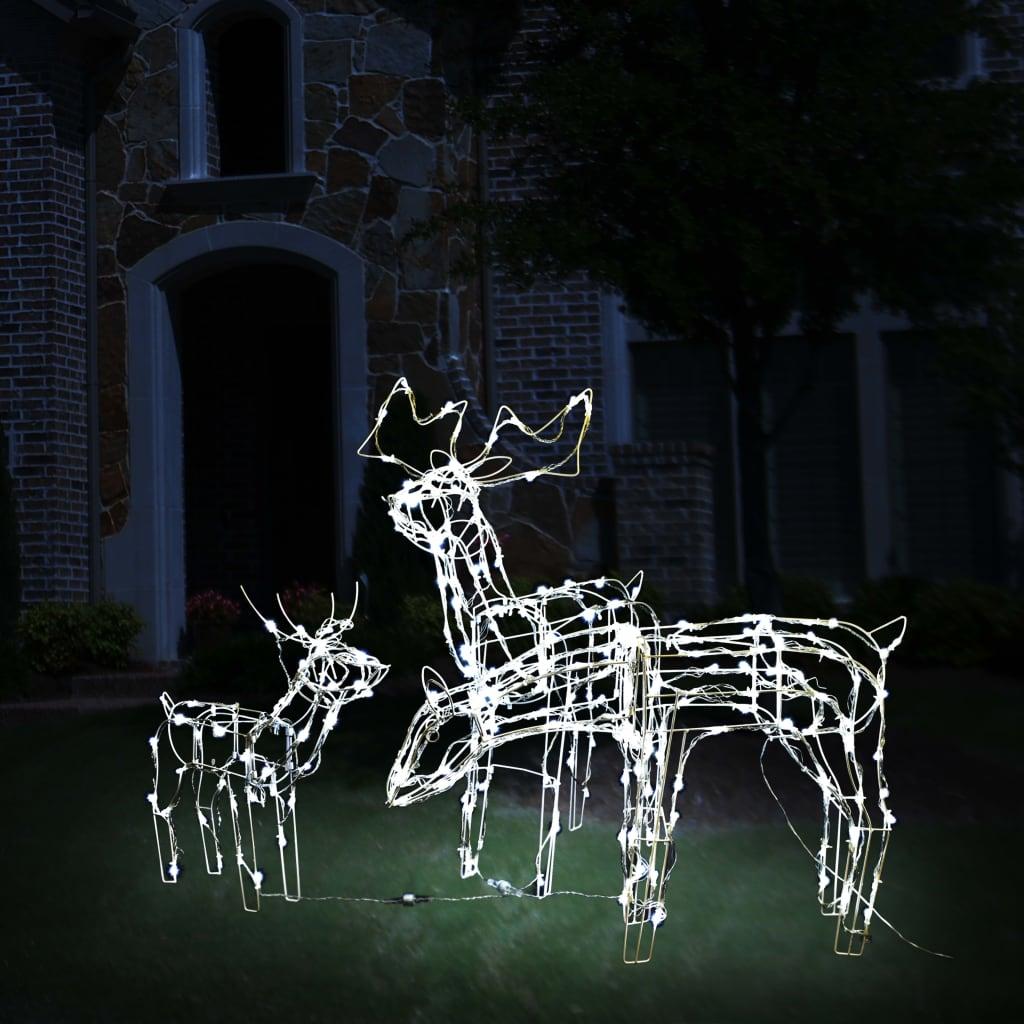 vidaXL Instalație de lumini de Crăciun cu reni, 3 piese, 229 LED-uri vidaxl.ro
