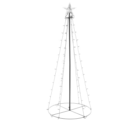 vidaXL kegleformet juletræ 96 LED'er indendørs og udendørs 72 x 180 cm[2/6]