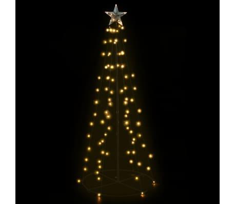 vidaXL kegleformet juletræ 96 LED'er indendørs og udendørs 72 x 180 cm[3/6]