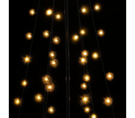 vidaXL kegleformet juletræ 96 LED'er indendørs og udendørs 72 x 180 cm[4/6]