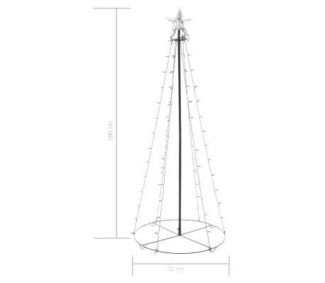 vidaXL kegleformet juletræ 96 LED'er indendørs og udendørs 72 x 180 cm[6/6]