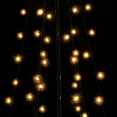 vidaXL Arbre de Noël cône 96 LED d