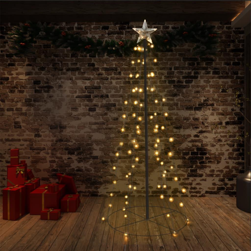 vidaXL Vánoční stromek kužel 96 LED světel dovnitř i ven 72 x 180 cm