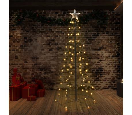vidaXL kegleformet juletræ 96 LED'er indendørs og udendørs 72 x 180 cm[1/6]