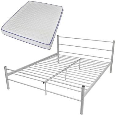 low priced cc5ee 18bcb vidaXL Bed Frame with Memory Foam Mattress Queen Size ...