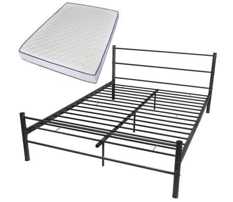 vidaXL Bed Frame with Memory Foam Mattress Double Size