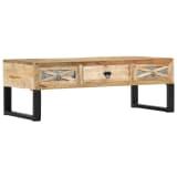 vidaXL Kavos staliukas, 110x50x38 cm, mango medienos masyvas