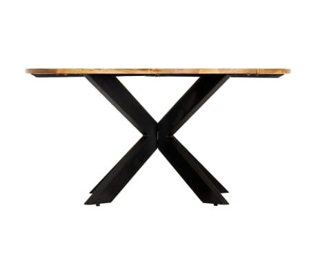 vidaXL Eettafel rond 150x76 cm massief mangohout[3/15]