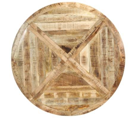 vidaXL Eettafel rond 150x76 cm massief mangohout[4/15]