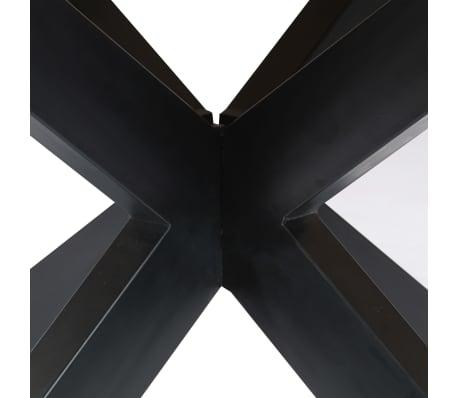 vidaXL Eettafel rond 150x76 cm massief mangohout[7/15]
