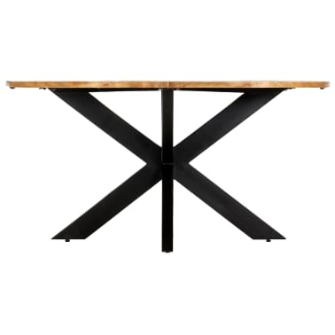 vidaXL Eettafel rond 150x76 cm massief mangohout[2/15]